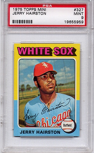 1975 Topps Mini Jerry Hairston #327 PSA 9