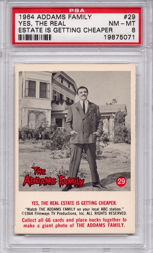 1964 Addams Family - Yes, The Real Estate Is Getting Cheaper #29 PSA 8