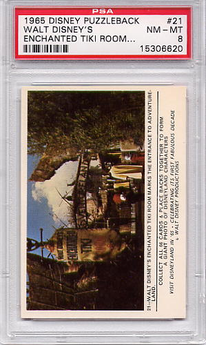1965 Disney Puzzleback - Walt Disney's Enchanted Tiki #21 PSA 8