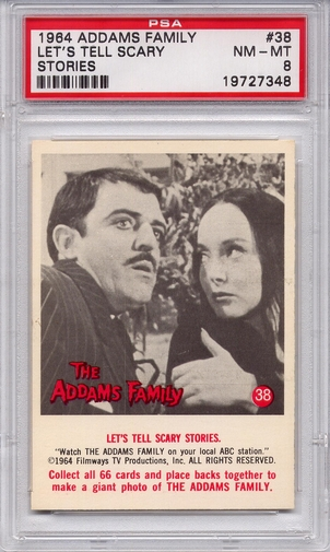 1964 Addams Family - Let's Tell Scary Stories #38 PSA 8