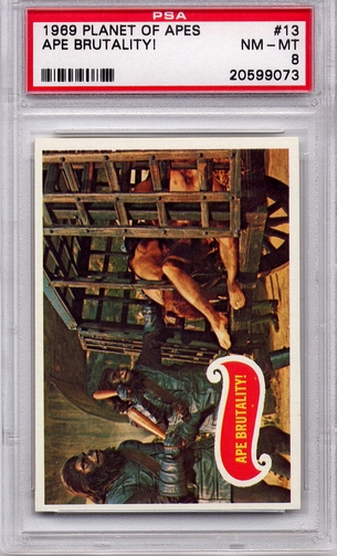 1969 Planet Of The Apes - Ape Brutality! #13 PSA 8