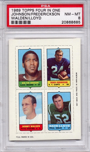1969 Topps Four In One Johnson/ Frederickson/ Walden/ Lloyd PSA 8