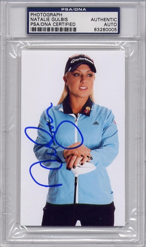 Natalie Gulbis PSA/DNA Certified Authentic Autograph 3x5 Photo