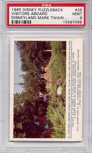 1965 Disney Puzzleback - Visitors Aboard Mark Twain #25 PSA 9