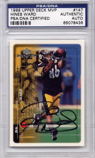 Hines Ward PSA/DNA Certified Authentic Autograph - 1999 UD MVP