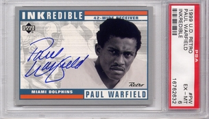 Paul Warfield PSA/DNA Certified Autograph - 1999 UD Retro