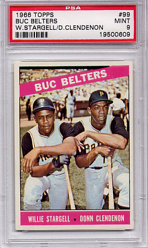 1966 Topps Buc Belters #99 PSA 9 None Higher