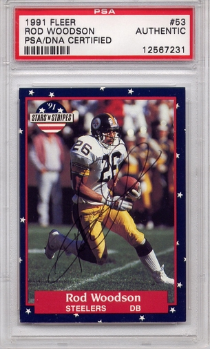 Rod Woodson PSA/DNA Certified Authentic Autograph - 1991 Fleer