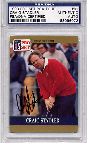 Craig Stadler PSA/DNA Certified Authentic Autograph - 1990 Pro Set