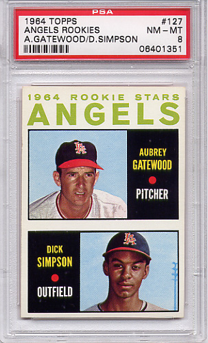 1964 Topps Angels Rookies #127 PSA 8