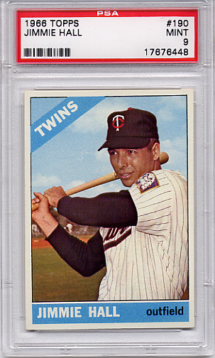 1966 Topps Jimmie Hall #190 PSA 9 None Higher