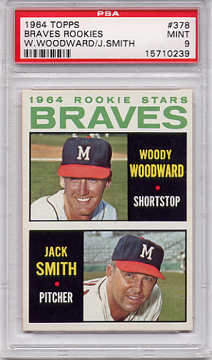 1964 Topps Braves Rookies #378 PSA 9