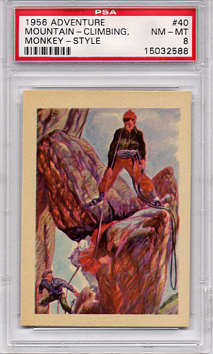 1956 Adventure - Mountain - Climbing, Monkey - Style #40 PSA 8