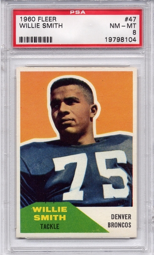 1960 Fleer Willie Smith #47 PSA 8