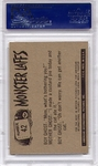 1966 Monster Laffs - I Lose My Head At Parties #42 PSA 8