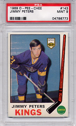 1969 O-Pee-Chee Jimmy Peters #143 PSA 9