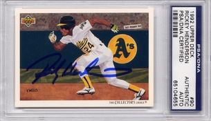 Rickey Henderson PSA/DNA Certified Autograph - 1992 Upper Deck