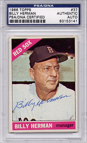 Billy Herman PSA/DNA Certified Authentic Autograph