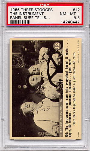 1966 Three Stooges - The Instrument Panel Sure Tells #12 PSA 8.5