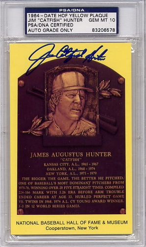 Jim Catfish Hunter PSA/DNA Certified Autograph PSA 10