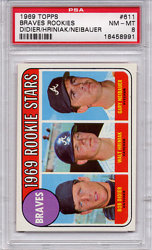1969 Topps Braves Rookies #611 PSA 8