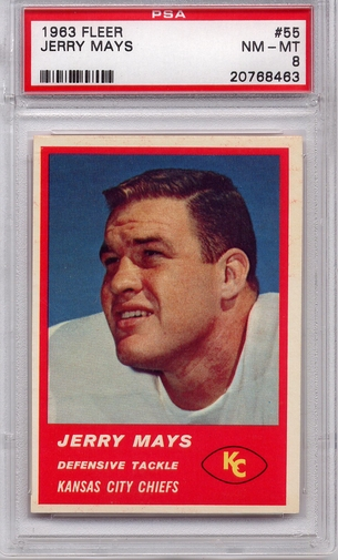 1963 Fleer Jerry Mays #55 PSA 8