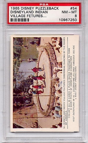 1965 Disney Puzzleback - Disneyland Indian Village #54 PSA 8