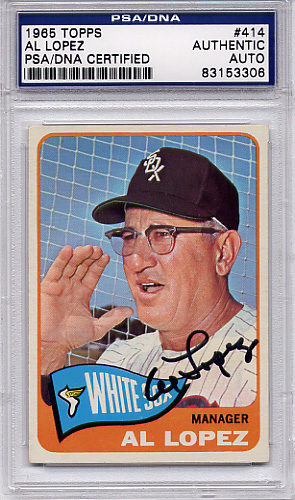 Al Lopez PSA/DNA Certified Authentic Autograph - 1965 Topps