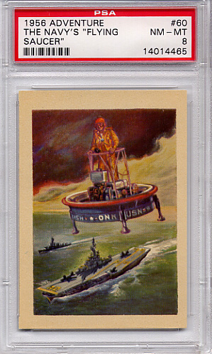 1956 Adventure - The Navy's Flying Saucer #60 PSA 8