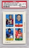 1969 Topps Four In One Johnson/ Katcavage/ Lewis/ Triplett (White-Red) PSA 8