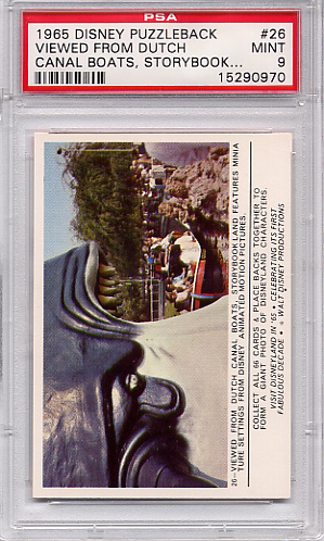 1965 Disney Puzzleback - Viewed From Dutch Canal Boats #26 PSA 9