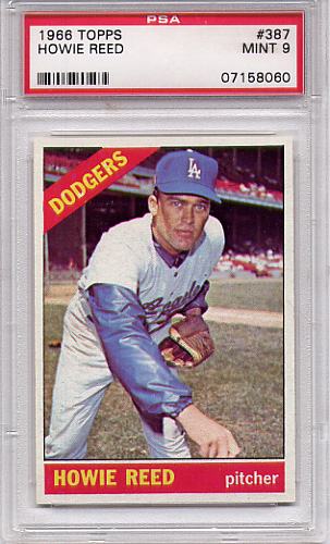 1966 Topps Howie Reed #387 PSA 9 None Higher