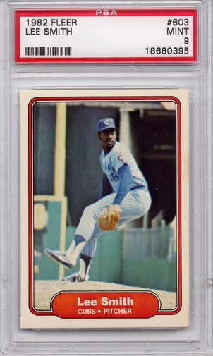 1982 Fleer Lee Smith #603 PSA 9