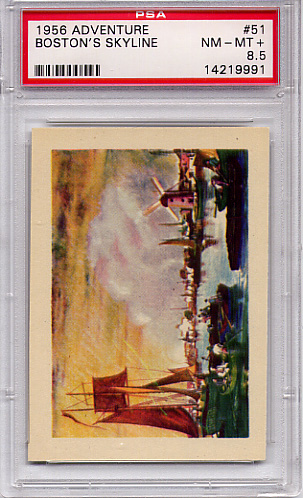 1956 Adventure - Boston's Skyline #51 PSA 8.5