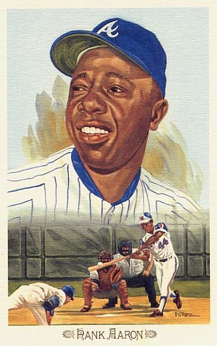 Hank Aaron Perez-Steele Celebration Postcard #1