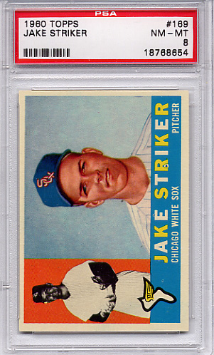 1960 Topps Jake Striker #169 PSA 8
