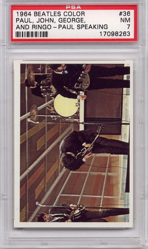 1964 Beatles Color - Paul, John, George and Ringo - Paul Speaking #36 PSA 7