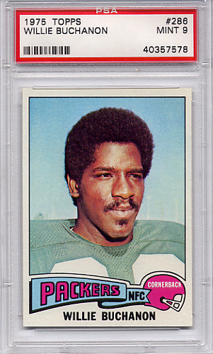 1975 Topps Willie Buchanon #286 PSA 9