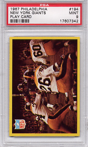 1967 Philadelphia - Giants Play Card #194 PSA 9 None Higher