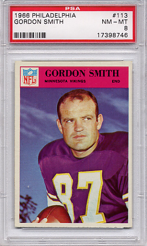 1966 Philadelphia Gordon Smith #113 PSA 8