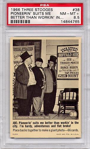 1966 Three Stooges - Pioneerin' Suits Me Better #38 PSA 8.5