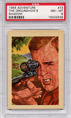 1956 Adventure - The Groundhog's Shadow #73 PSA 8