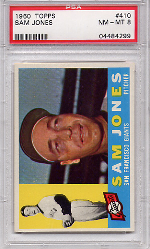 1960 Topps Sam Jones #410 PSA 8
