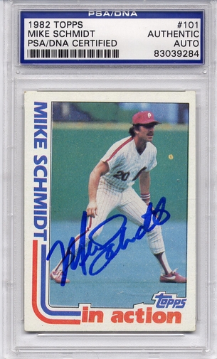 Mike Schmidt PSA/DNA Certified Authentic Autograph - 1982 Topps In Action