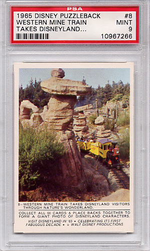 1965 Disney Puzzleback - Western Mine Train #8 PSA 9