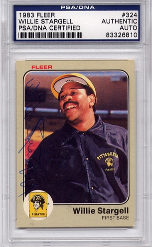 Willie Stargell PSA/DNA Certified Authentic Autograph - 1983 Fleer