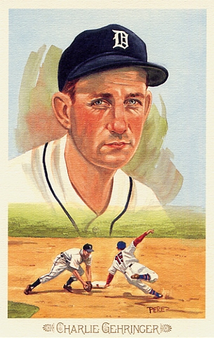 Charlie Gehringer Perez-Steele Celebration Postcard #15