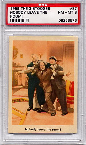 1959 The 3 Stooges - Nobody Leave The Room! #87 PSA 8
