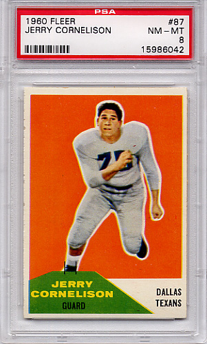1960 Fleer Jerry Cornelison #87 PSA 8