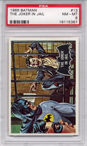 1966 Batman (black bat) - The Joker In Jail #13 PSA 8